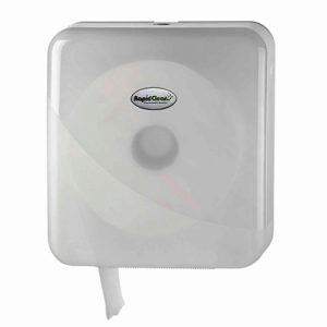 RapidClean Jumbo Toilet Tissue Roll Dispenser