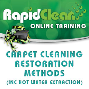 Carpet Cleaning Restoration Course