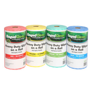RapidClean Heavy Duty Wipes on a Roll
