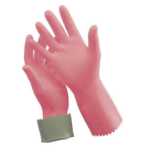 Silver Lined Rubber Gloves Concept Cleaning Supplies