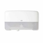 Tork T2 Twin Mini Jumbo Toilet Roll Dispenser White