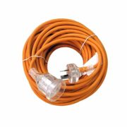 Extension Lead Orange Rubber