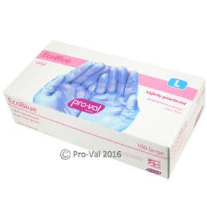 RCR Eco Blue Vinyl Gloves