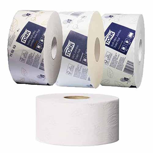 Tork T2 Mini Jumbo Toilet Tissue Rolls Concept Cleaning