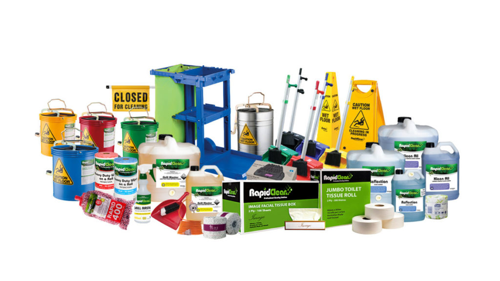 Free Safe Chemical Handling Course Concept Cleaning Supplies