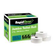 RapidClean Jumbo Toilet Tissue Roll 1 Ply - 2 Ply
