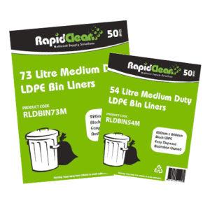 Medium Duty Black LDPE Garbage Bags